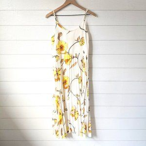 A New Day Floral Pleated Midi Dress M